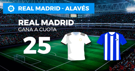 Megacuota 25 gana Madrid a Alaves en Paston