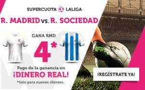 Megacuota 4 gana Real Madrid a R. Sociedad en Wanabet
