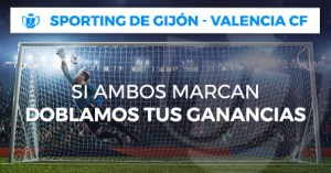 Sporting-Valencia si ambos marcan doblamos tus ganancias con Paston