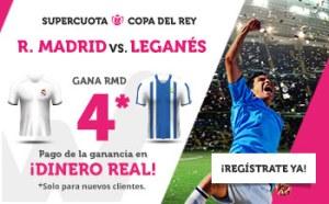 Megacuota 4 gana Madrid a Leganes con Wanabet