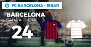 Megacuota 24 gana Barcelona a Eibar en Paston