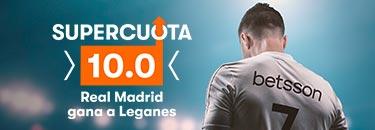 Megacuota 10 Madrid gana a Leganes en Betsson
