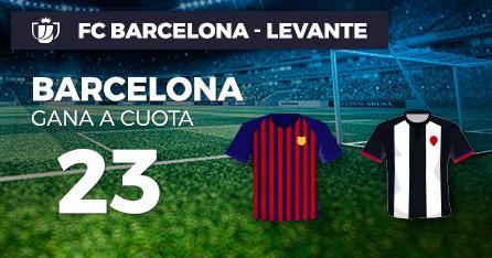 Megacuota 23 gana Barcelona a Levante en Paston