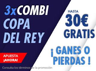 Combi de la Copa del Rey hasta 30€ gratis con Suertia