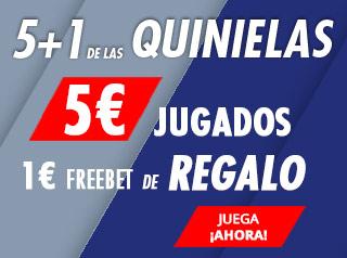5€+1€ de las quinielas en Suertia