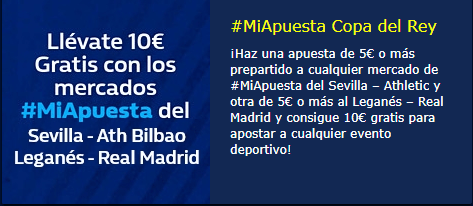 Llevate 10€ extras con los mercados #miapuesta de William Hill