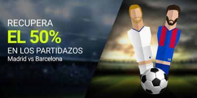 Recupera el 50% en los partidazos,Madrid-Barcelona en Luckia