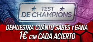 Test de Champions 1€ por cada pregunta acertada en Sportium