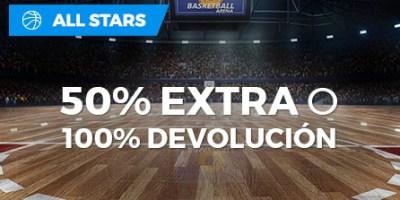 All Star 50% extra o 100% devolucion en Paston