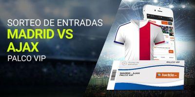 Sorteo de entradas Madrid-Ajax palco vip en Luckia