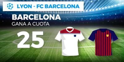 Megacuota 25 gana Barcelona a Lyon en Paston