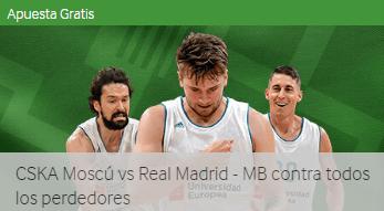 CSKA Moscu-R.Madrid seguro 100% en Betway