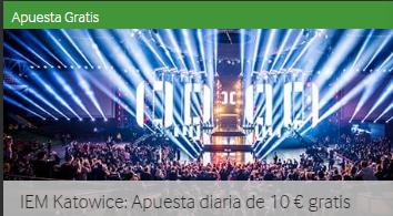 Iem Katowice:apuesta diaria de 10€ gratis con Betway