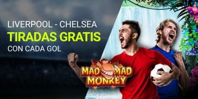Liverpool-Chelsea tiradas gratis con los goles en Luckia
