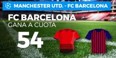 Megacuota 54 gana Barcelona a Manchester en Paston