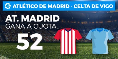 Megacuota 52 gana At.Madrid a  Wanabet