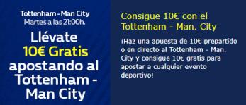 Llevate 10€ gratis apostando al Tottenham-Manchester C. en William hill