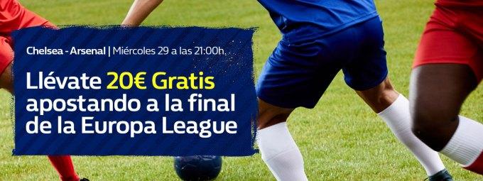 Apuesta gratis William Hill Europa League