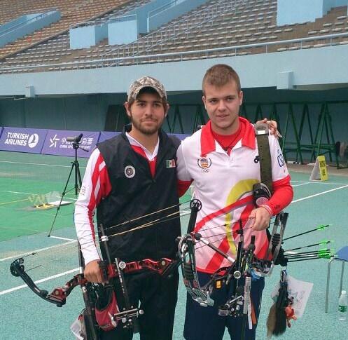 Adolfo Medina y Alex Gonzalez mundial tiro arco china