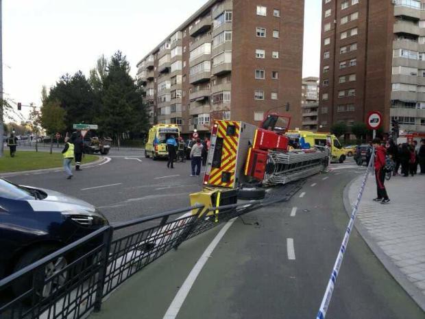 camion bomberos volcado valladolid