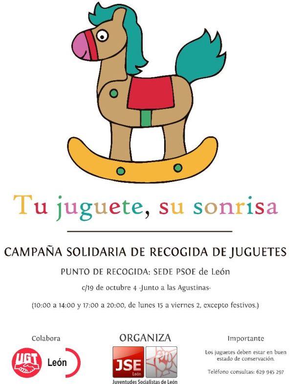 Cartel recogida Juguetes PSOE bembibre