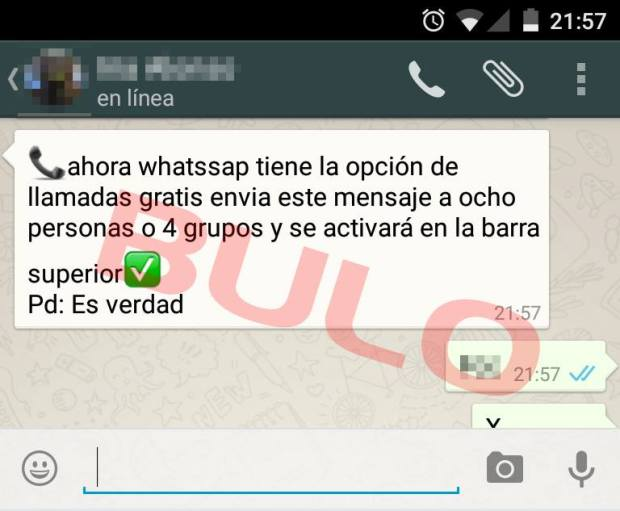 bulo llamadas whatsapp