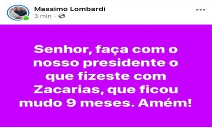 """Padre do Acre pede a Deus por Bolsonaro: """"Senhor, faça com o nosso presidente o que fizeste com Zacarias, que ficou mudo"""""""