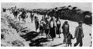 más de 150.000 personas salieron de Málaga en la Desbandá