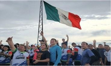 Tamaulipecos cumplen con La Bandera: El Reto.