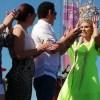 Coronan a la Reina del Mar Irina Baeva en Playa Badgad de Matamoros