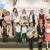 Fueron premiados por Mariana Gómez ganadores del concurso de cartel de derechos de niñas, niños, adolescentes y dibujo sobre el trabajo infantil.