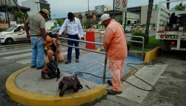 Reparan rampas de discapacidad en el centro de Madero