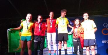 Destacan tamaulipecos en Mundial de Triatlón; llegan dos medallas de plata.