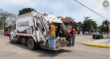 Gobierno de Madero Redobla Esfuerzos en Recolección de Basura