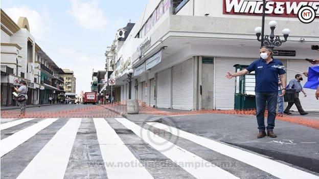 Brindan Mayor Seguridad a Viandantes en la Zona Centro