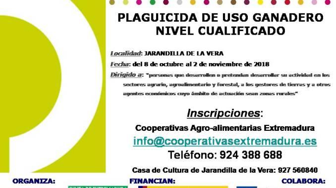 Curso gratuito de Plaguicida de uso Ganadero. Nivel Cualificado