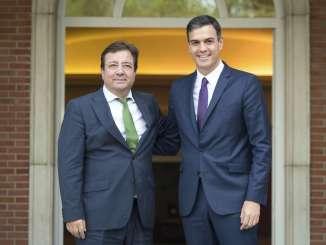 Fernández Vara destaca el compromiso del Gobierno de España con el proyecto de Alta Velocidad en Extremadura
