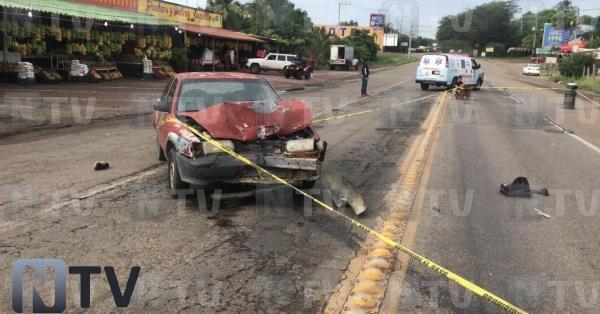 moticiclista muere en carretera tepic vallarta