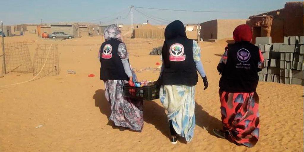 Una cesta solidaria para el Sáhara