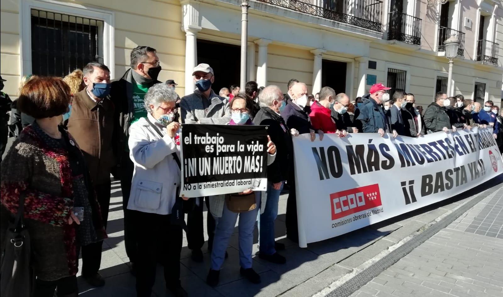 Alcalá | Concentración ante otro accidente laboral