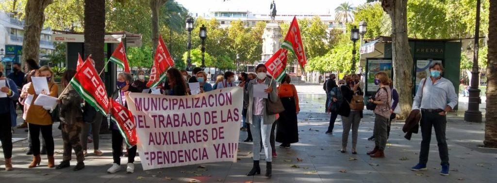 Movilización de auxiliares de la dependencia andaluza