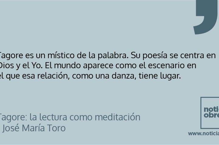 Tagore: la lectura como meditación