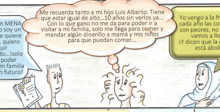Un cómic aborda la realidad sufriente de las trabajadoras y trabajadores migrantes