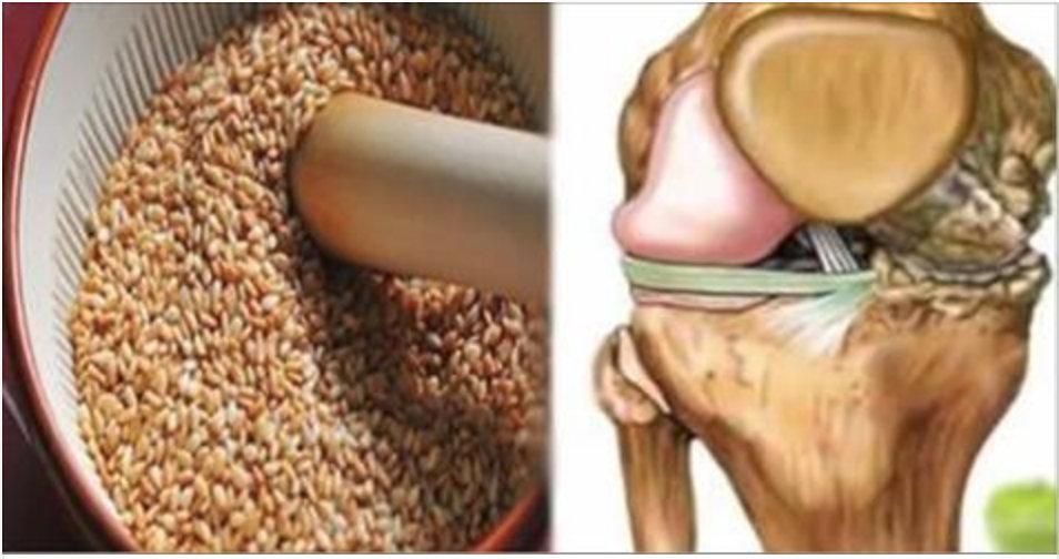 Poderosa receita com Sementes que regeneram tendões e tiram a dor dos joelhos