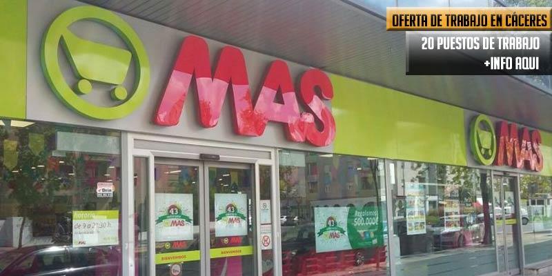 supermercado Mas oferta 20 puestos de trabajo