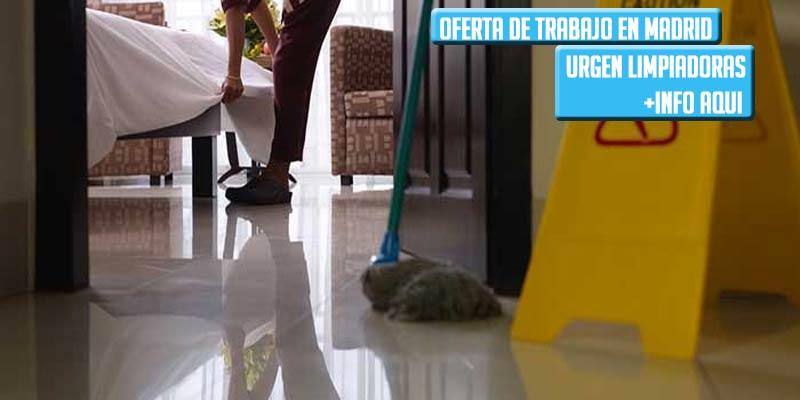 Se buscan limpiadoras para trabajar en Madrid