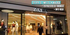 oferta de empleo Zara Malaga