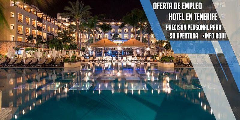 oferta de trabajo en hotel Suite Victoria en Tenerife