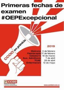 cartel de Comisiones obreras Sanidad CC.OO.