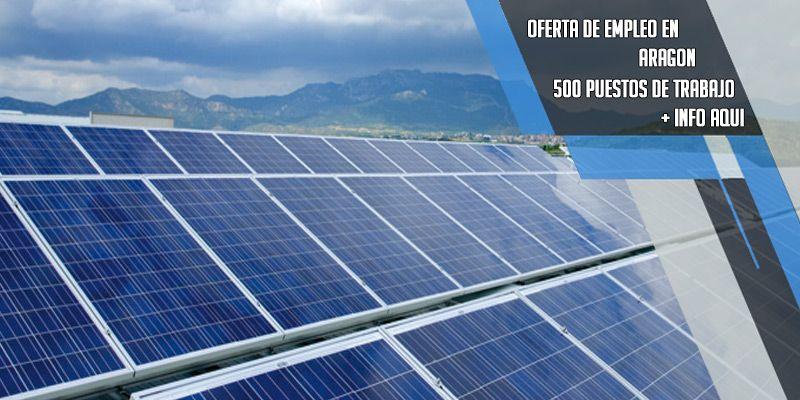 oferta de trabajo en Aragon solar fotovoltaica